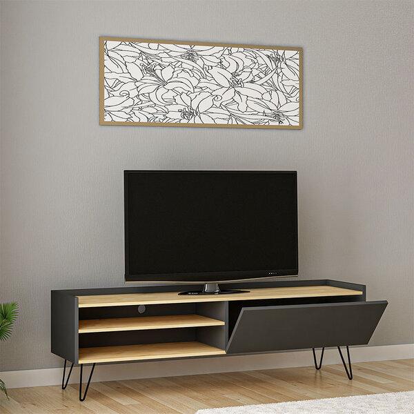 ТВ Шкаф Вероника  с цвят орех/бяло 120x33x49,5 см