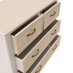 Шкаф Лейла бяло-дъбов цвят 80x40x80 см