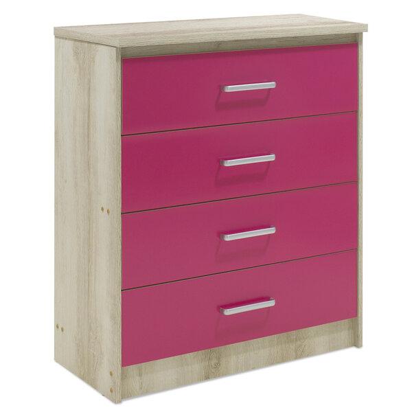 Детски шкаф  Shanty в розов цвят 80x40x95
