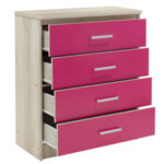 Детски шкаф  Shanty   в Кастило-розов цвят 80x40x95