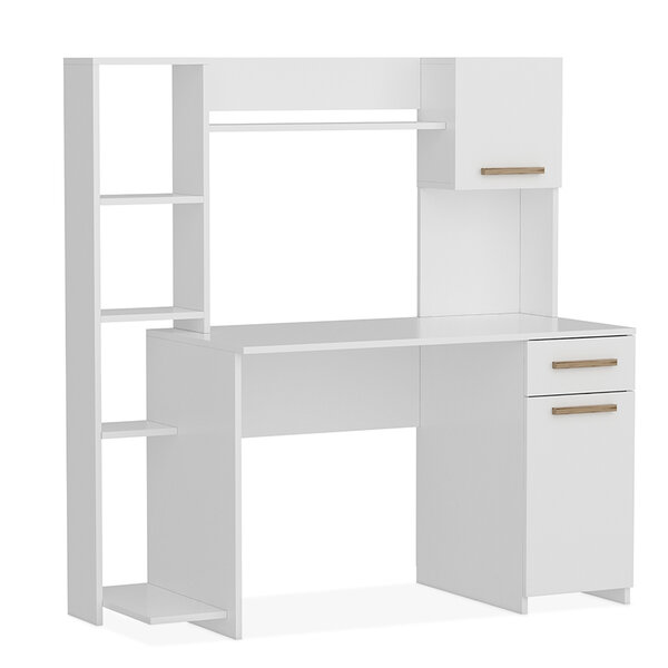 Офис бюро Весела  в бяло 144x60x151 см
