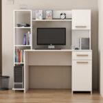 Офис бюро Весела  в бял цвят 144x60x151 см
