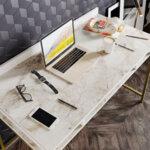 Учебно бюро PWF-0336  в бяло златист цвят 119,5x62x65 см