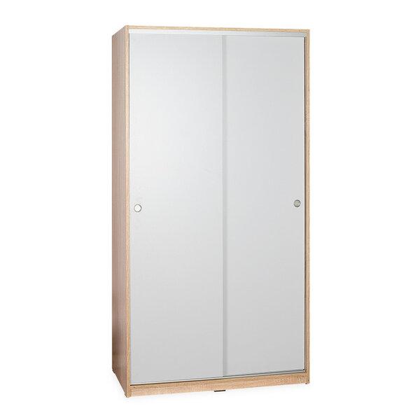 Гардероб с две плъзгащи врати в цвят сонама / бяло 94x52x182 см