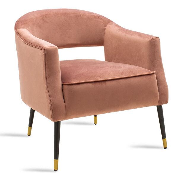 Кресло Папи в розово кадифе 70x74x77 см