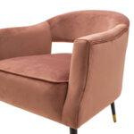 Кресло Папи с розово кадифе 70x74x77 см