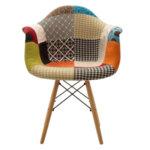 Текстилно кресло Юлита от полипропилен с многоцветна мозайка