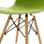Стол Юлита от полипропилен зелено/дъб