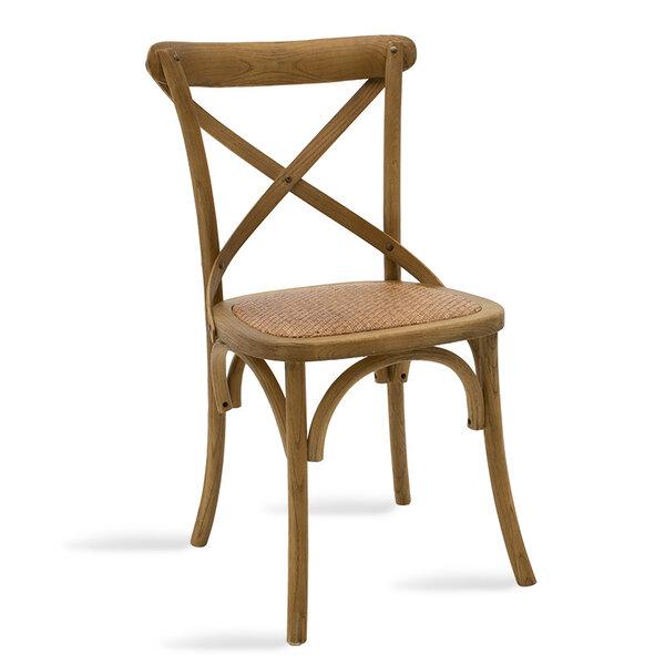 Дървен стол Reed с  ратан