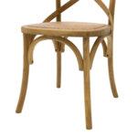 Дървен стол Reed в цвят орех с кафяв ратан 45x55x87 см
