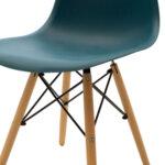 Стол Юлита PP цвят  син/дъб