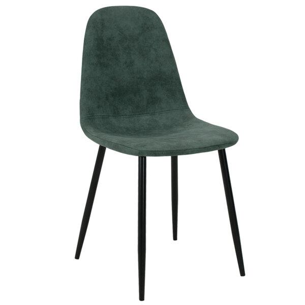 Полиуретанов стол Bella  зелен с метални черни крака