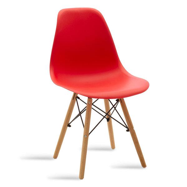 Полипропиленов стол Юлита в червено