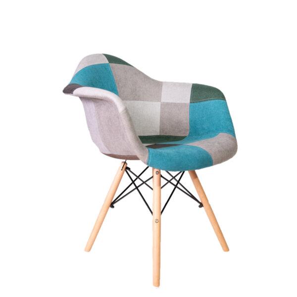 Трапезен стол Тея пачуък/зелен