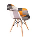 Трапезен стол Тея пачуърк/портокал