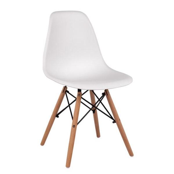 Трапезен стол Иви бял/полипропилен