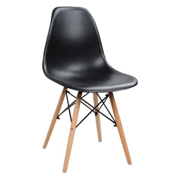 Трапезен стол Иви черен /полипропилен