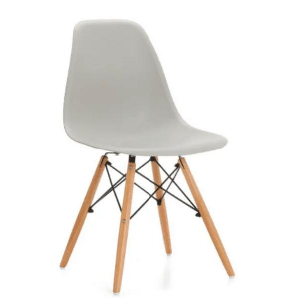 Трапезен стол Иви светло сив /полипропилен