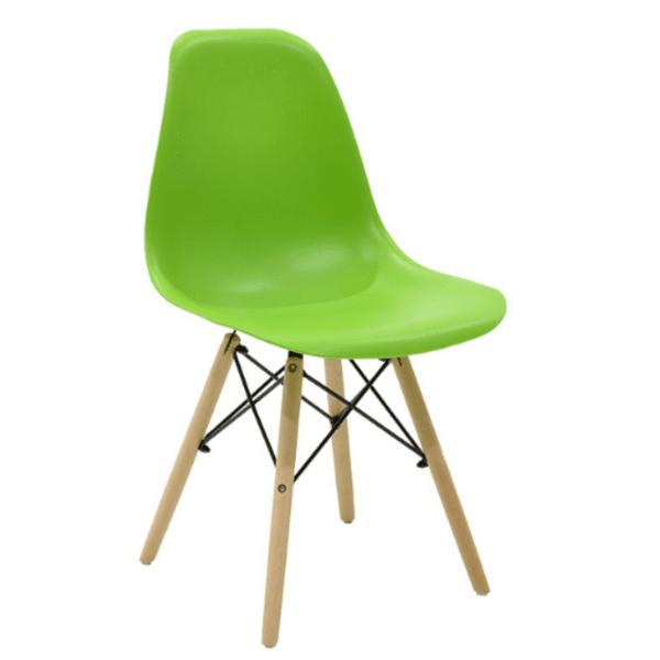 Трапезен стол Иви зелен/полипропилен