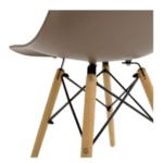 Трапезен стол Иви мока /полипропилен