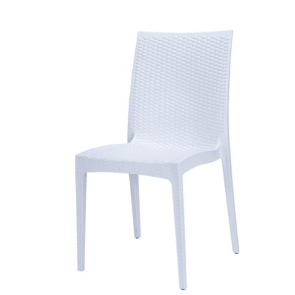 Градински стол Арлин-полипропилен/бял