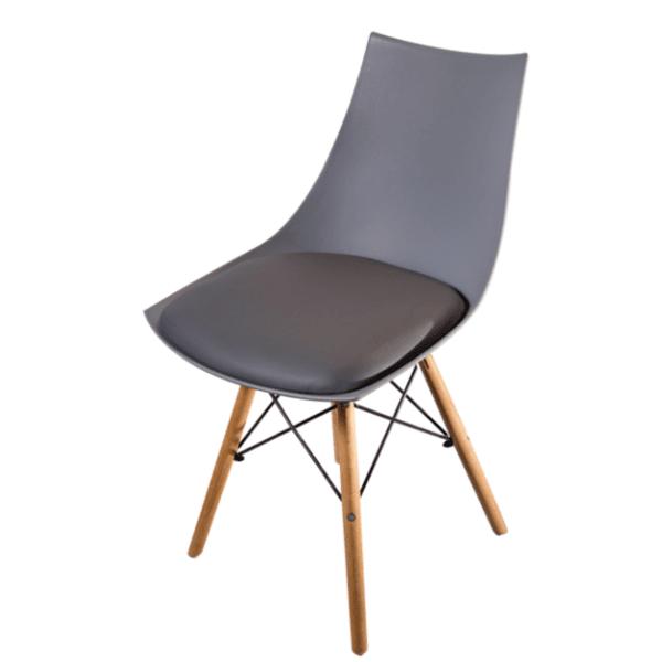 Трапезен стол Верона 2/сив