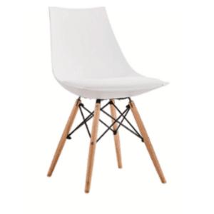 Трапезен стол Верона 2/бял