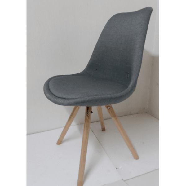 Трапезен стол Верона дамаска/сива