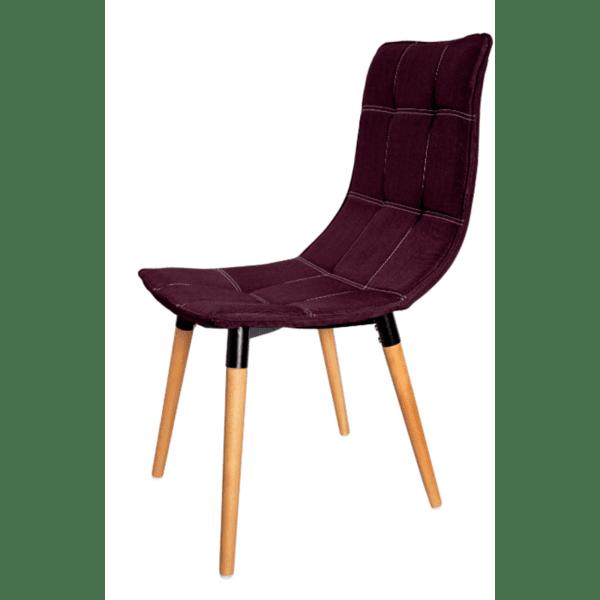 Трапезен стол Ник дамаска /лилав