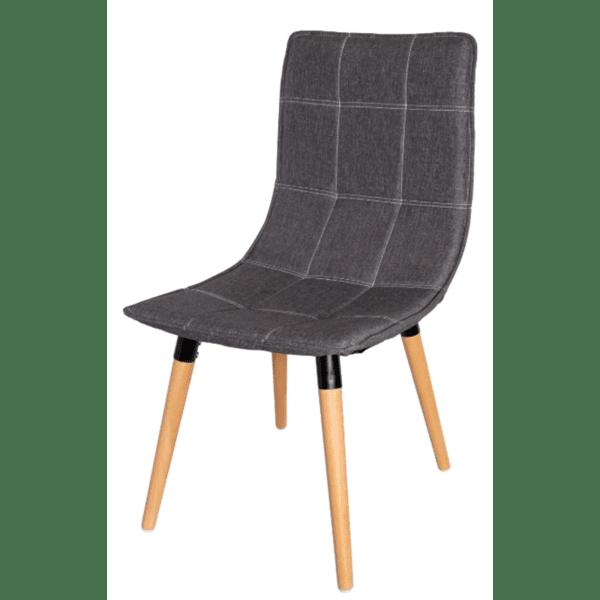 Трапезен стол Ник дамаска/сив