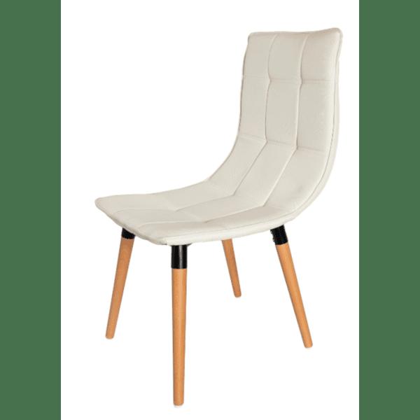 Трапезен стол Ник дамаска/бял