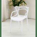 Стол Виена полипропилен/бял