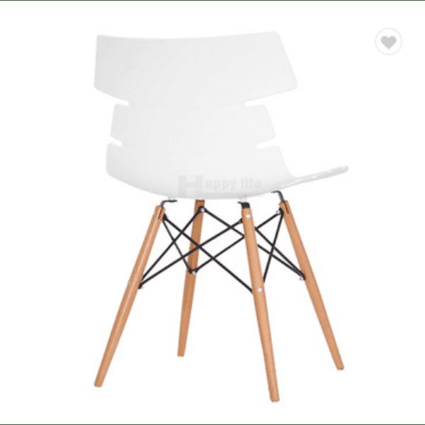 Трапезен стол Ница/бял