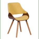 Трапезен стол Carmen 9973 - орех / жълт