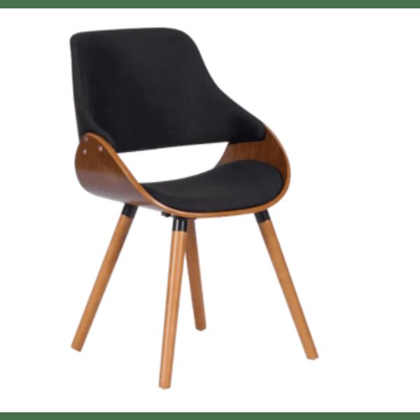 Трапезен стол Carmen 9973 - орех / черен