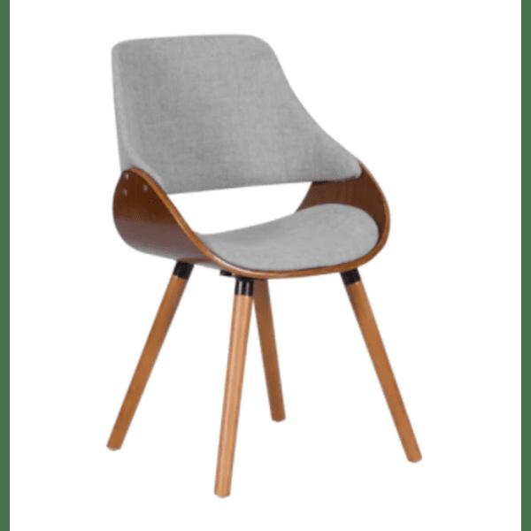 Трапезен стол Carmen 9973 - орех / сив