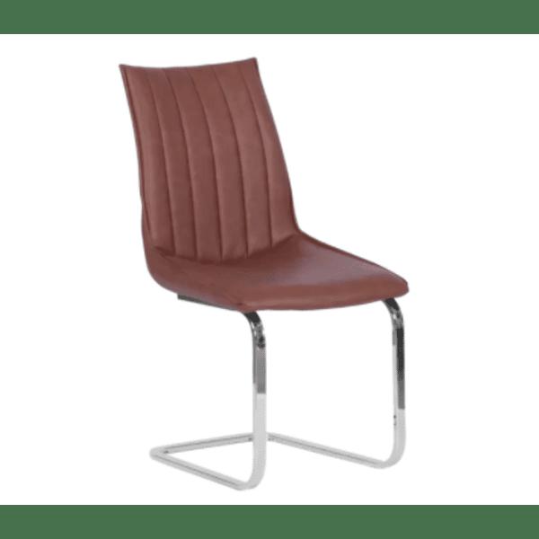 Трапезен стол OXFORD - червено-кафяв BS 1