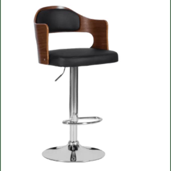 Бар стол Carmen 4045 - орех / черен