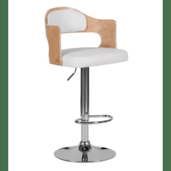 Бар стол Carmen 4045 - бук / бял