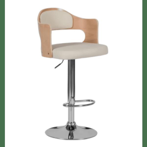 Бар стол Carmen 4045 - бук / крем