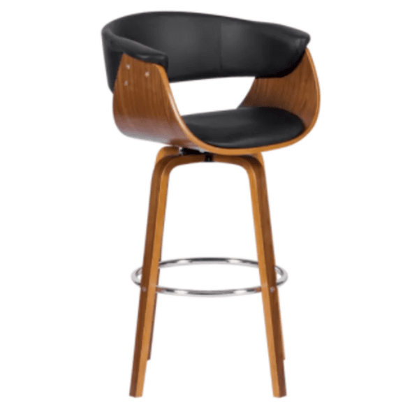 Бар стол Carmen 4040 - орех / черен