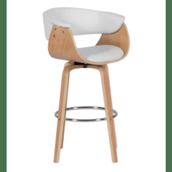 Бар стол Carmen 4040 - бук / бял