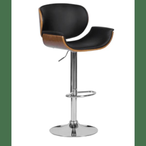 Бар стол Carmen 4050 - орех / черен