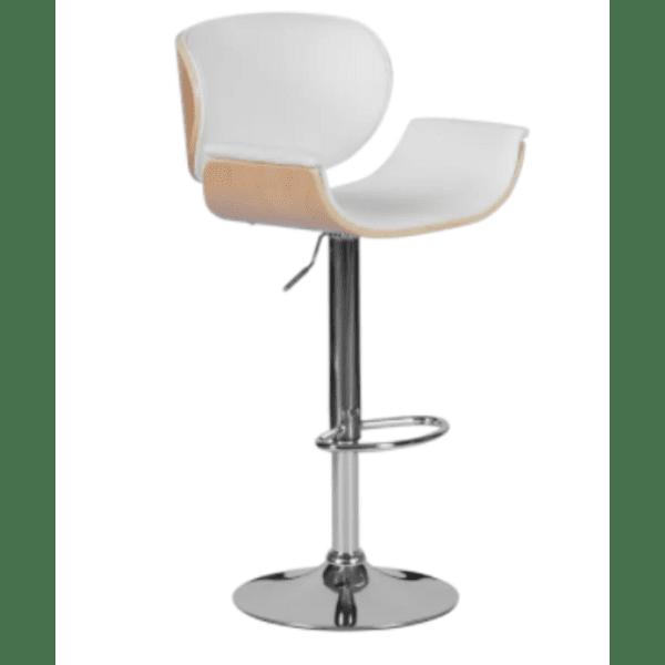Бар стол Carmen 4050 - бук / бял