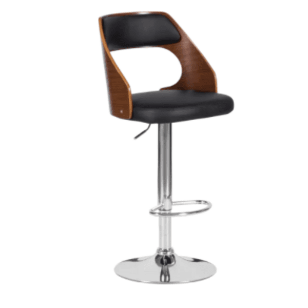 Бар стол Carmen 4035 - орех / черен