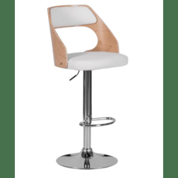 Бар стол Carmen 4035 - бук / бял