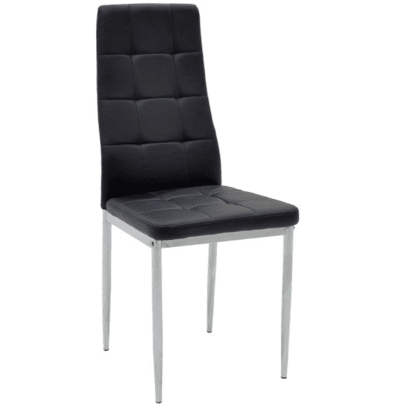 Трапезен стол Кубе-черен