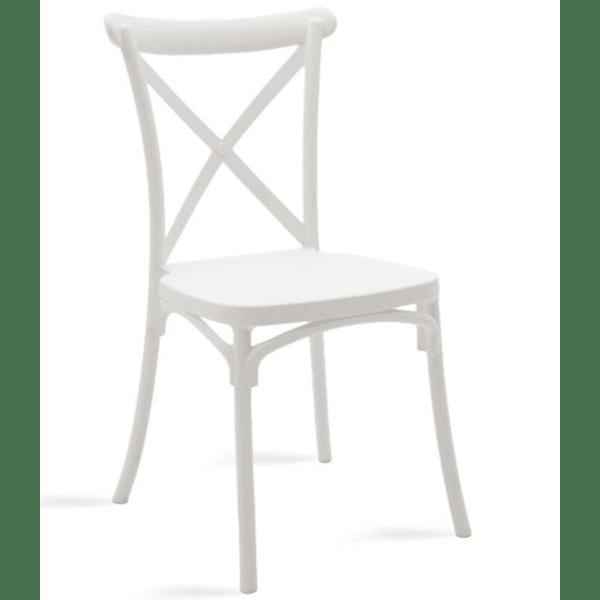 Кетъринг стол Xavier-бял