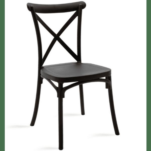 Кетъринг стол  Xavier-черен