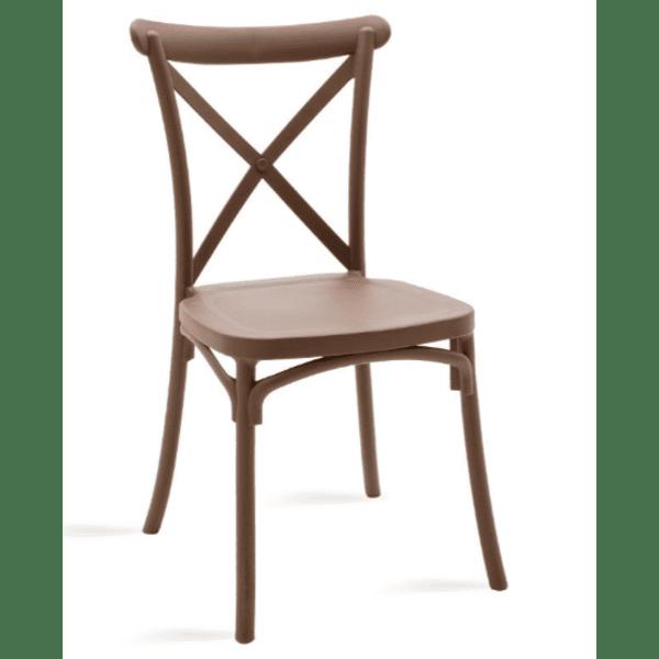 Кетъринг стол Xavier-кафяв